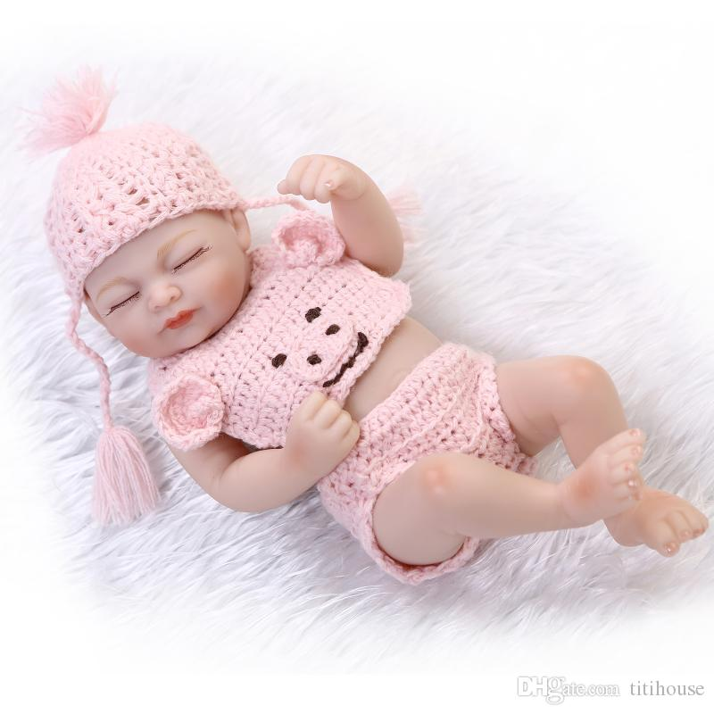 Full Vinyl Reborn Baby Boy Silicone 10 Inch Newborn Dolls Realistic Baby  Dolls For Kids Brown Eyes For Baby Shower New Year Gift Full Silicone Reborn  Baby ...