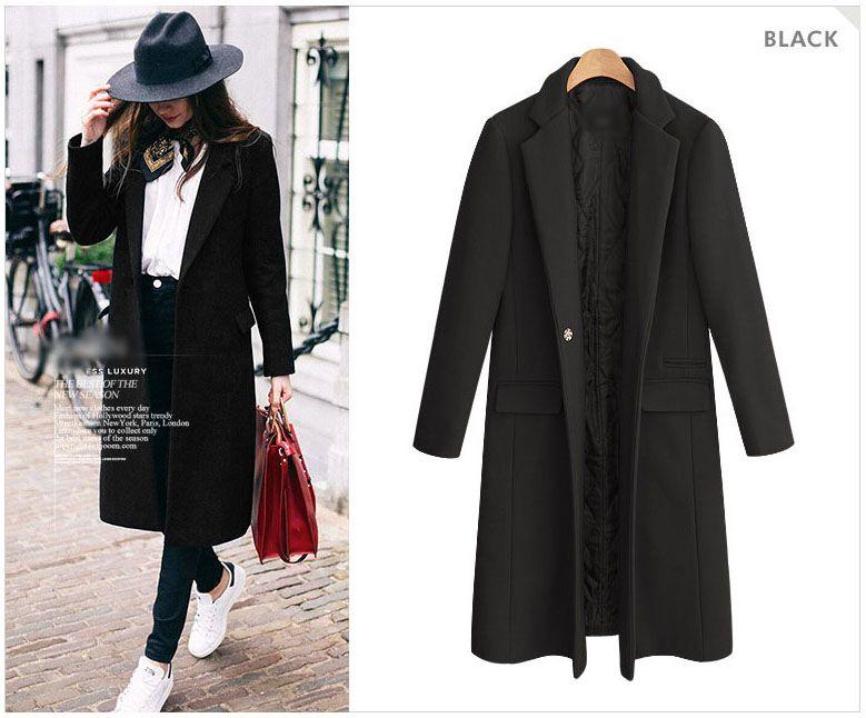 Manteau femme Europeu 2017 Outono / Inverno Mulheres Oversized Quilted Casaco De Lã Nibbuns Simples Outerwear casaco feminino
