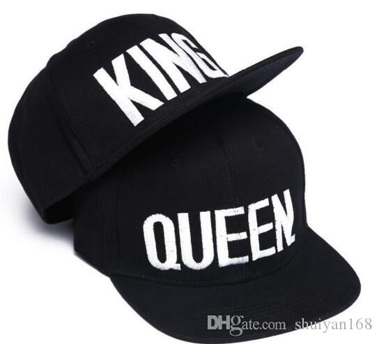Embroidery Snapbacks Couple Cap Men And Women Fashion QUEEN KING ... 88dca56b233