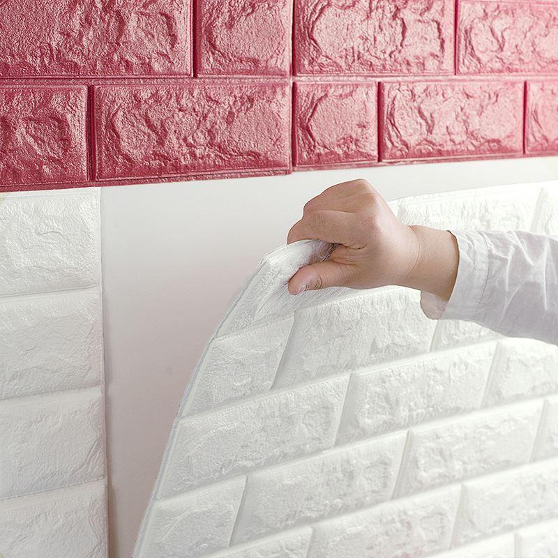 European 3d wall stickers wall brick pattern self adhesive for 3d self adhesive wallpaper