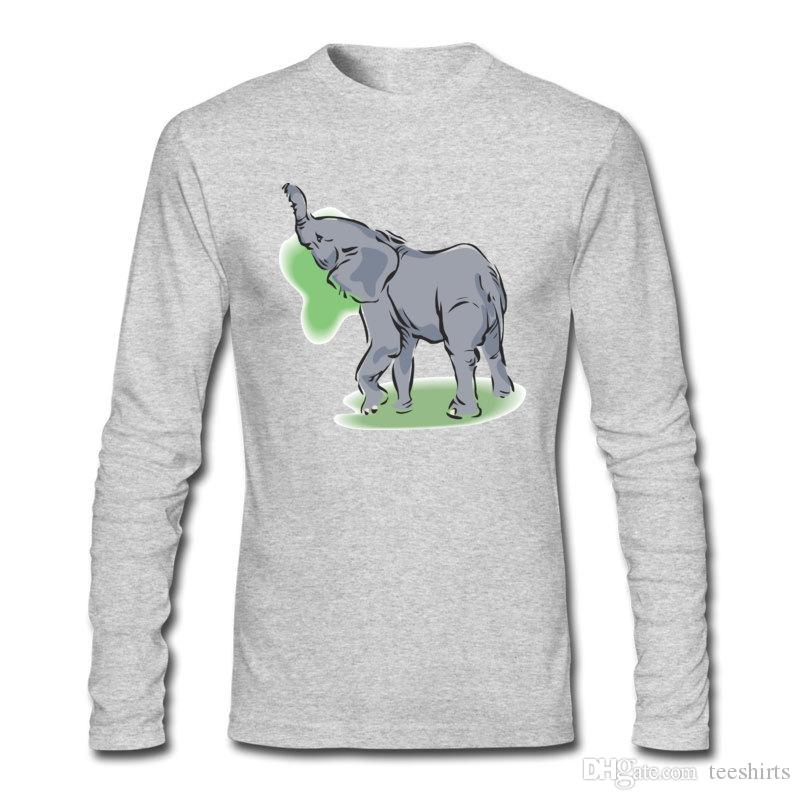Высокое качество Angry Animal для Мужские футболки повседневная и личность футболки чистый и с длинным рукавом футболки