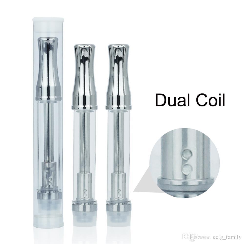 Desechable Glass atomzier Dual BVC algodón Bobina 510 Cartucho Para concentrado de aceite espeso VS CE3 CE4 CE5 atomizador ego