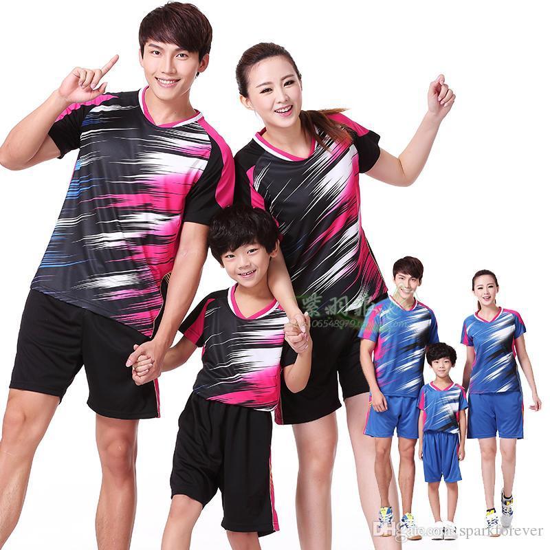 Оптовая EMS бесплатно, текстовая печать бесплатно, новая рубашка для бадминтона, одежда для настольного тенниса, спортивная рубашка, одежда 1044