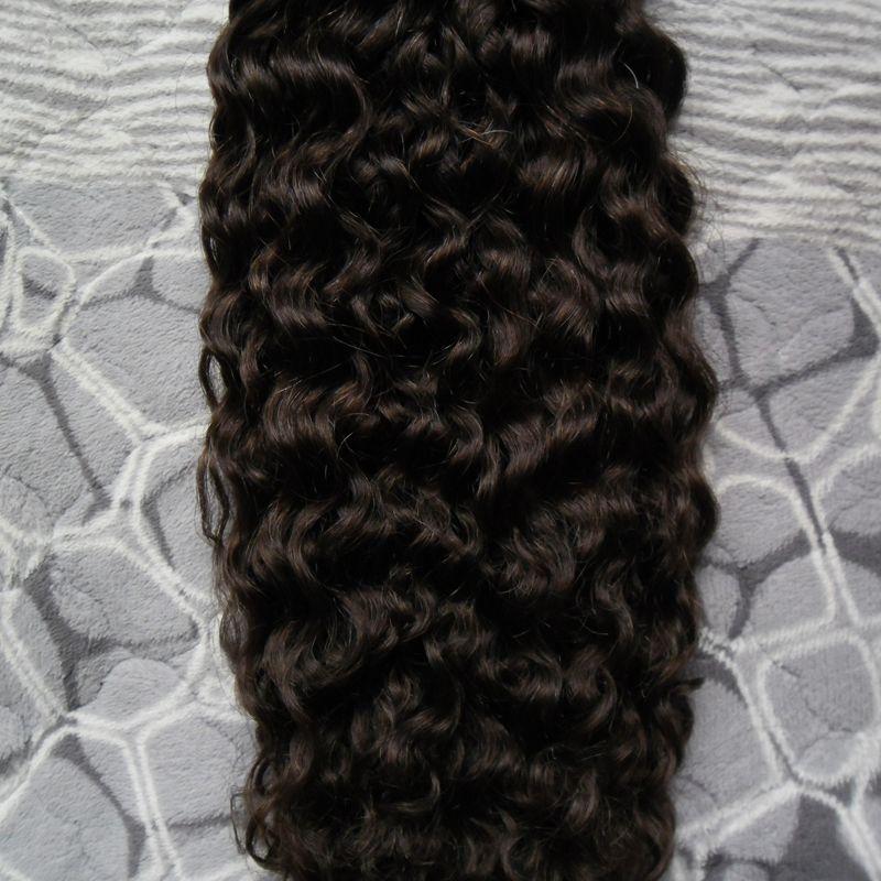 Extensions de Cheveux Humains Brésiliens crépus Capsule Kératine I Astuce Cheveux Fusion 100g 1g / brin 100s vierge je tip extensions