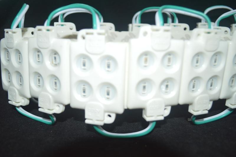 4LED 주입 모듈 스퀘어 모양 5050 5630 50lm 2W 고휘도 LED 백라이트 12V 방수 정전기 방지 화재 ABS 쉘