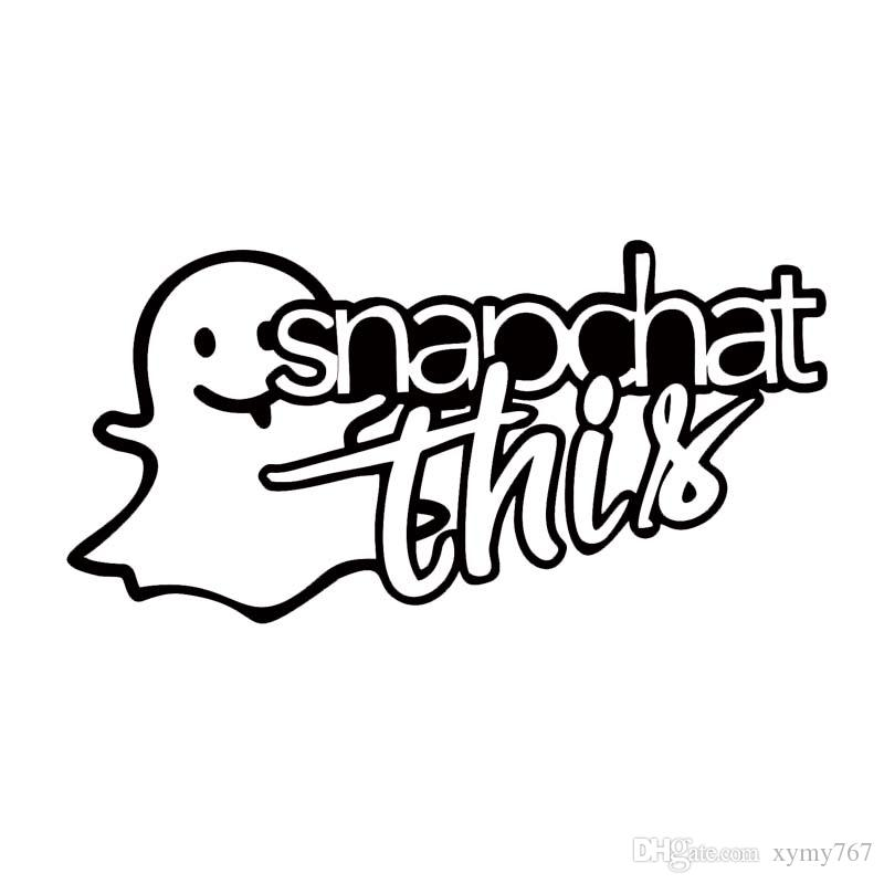 2018 car sticker for snapchat this sticker funny attractive car styling low car window vinyl decal accessories decor from xymy767 1 21 dhgate com