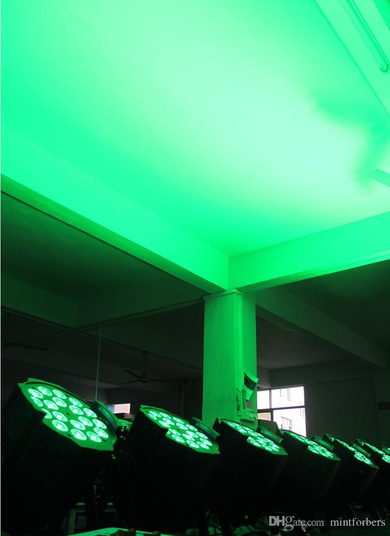 MFL Upgrade *18w6in1 RGBWA+UV 6/10CH LED Par Can DJ Bar Lighting Stage Par Light for Concert Churth Party 4-Pack