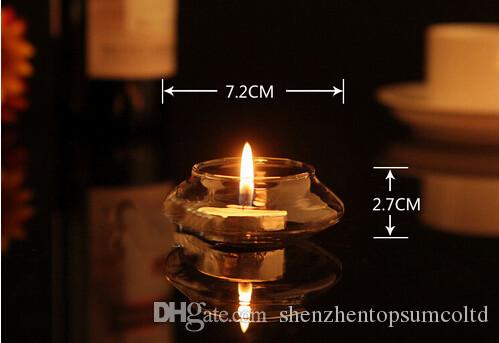 Kostenloser Versand Transparent Floating Glass Candle Holder Hochzeit Home Tisch Dekorativ Mit Einer Kerze Romantisches Abendessen