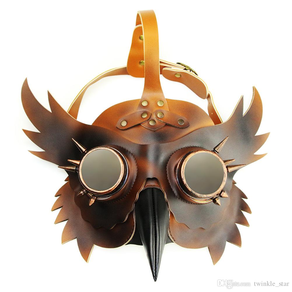 Halloween steampunk mask scary party mask Steampunk PU masks for Halloween festival party and Halloween theme bar