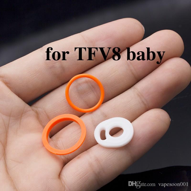 100 takım / grup yüksek kalite tfv8 bebek o ring silikon mühür o ring tfv8 için bebek tankı 3 adet / takım