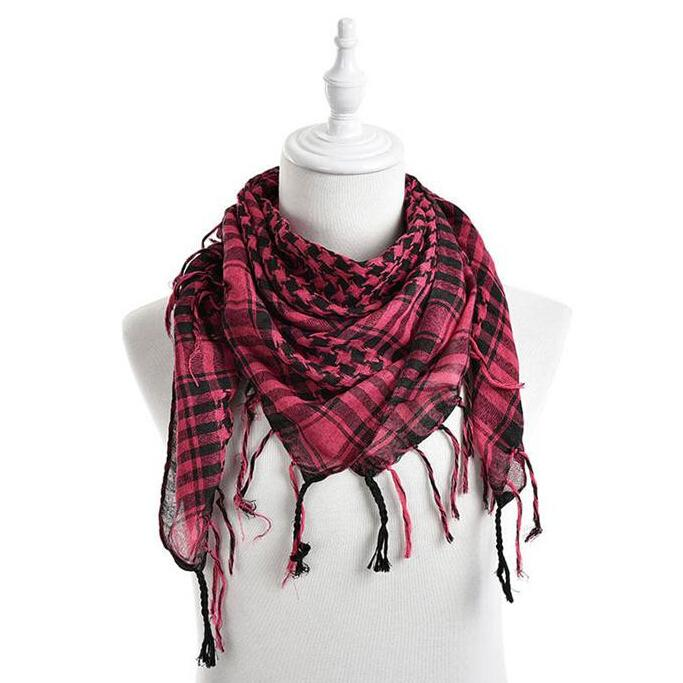 88e8e78d70f Wholesale New Fashion Unisex Women Men Polyester Scarf Shawl Checkered Arab  Grid Neck Keffiyeh Palestine Scarf Wrap 100 100 Cm Knit Scarf Knitted Scarf  From ...