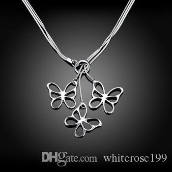 Hurtownie - detaliczna najniższa cena świąteczny prezent 925 srebrny moda biżuteria darmowa wysyłka naszyjnik N53