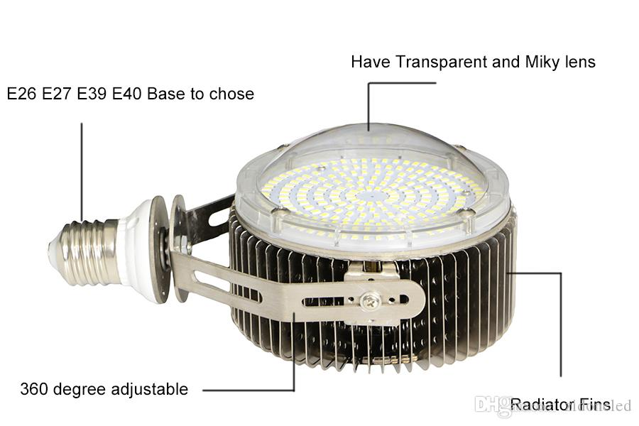 New Fins Radiator led retrofit kit lighting E26 E27 E39 E40 canopy wallpack streetlight 80W 100W 120W 150W 180W 200W 120Lm/W