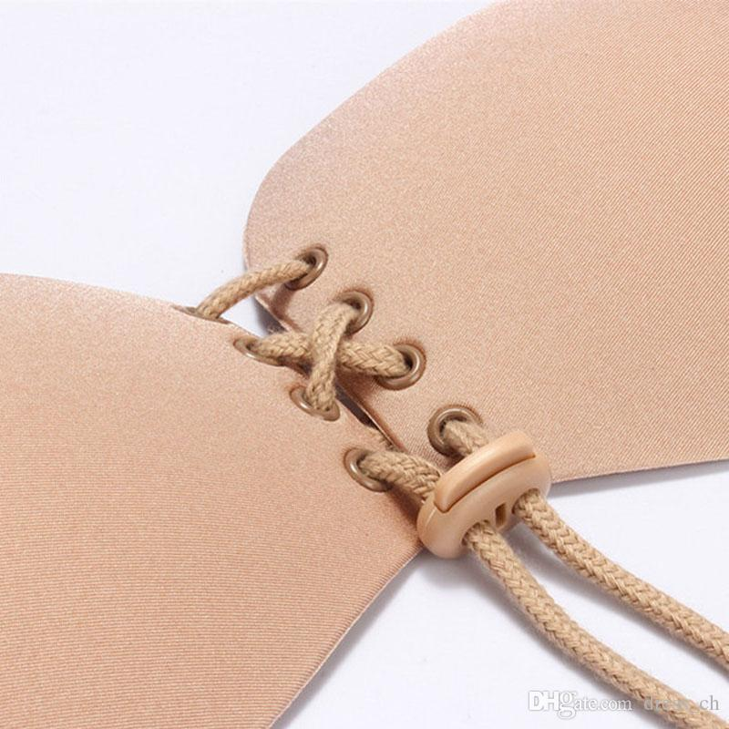 Black And Nude Women Adhesive Stick Silicone Invisible Bra Magic Stick On Backless Freedom strapless Bra Gel Push Up breast immediately