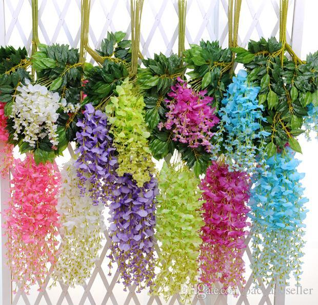 Upscale artificial bulk silk flowers bush wisteria garland hanging upscale artificial bulk silk flowers bush wisteria garland hanging ornament for garden home wedding decoration supplies from packagesellers store dhgate mightylinksfo