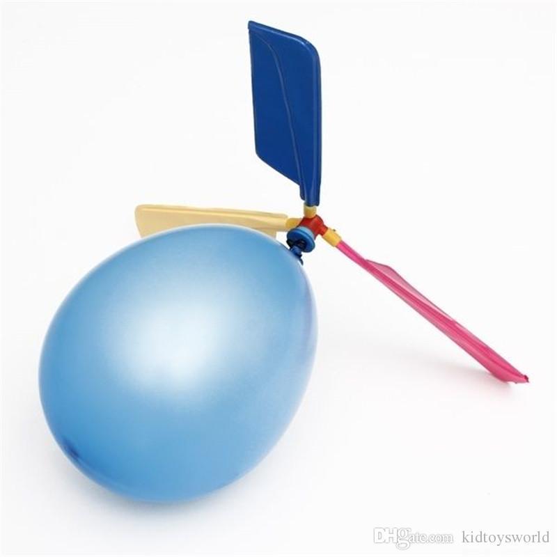 Fly Balonlar Komik Düz Klasik Geleneksel Oyuncaklar Balon Düğün Helikopter Taşınabilir Parti Dekor Uçan Balonlar