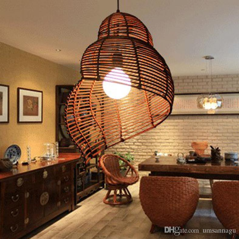 Asian Pendant Lighting Hanging Modern Bamboo Snail Pendant Lights Fixture Southeast Asian Rattan Escargots Pendant Lamps Hotel Restaurant Dining Room Cafes Hanging Lamp Semi Flush Ceiling Dhgate Modern Bamboo Snail Pendant Lights Fixture Southeast Asian Rattan
