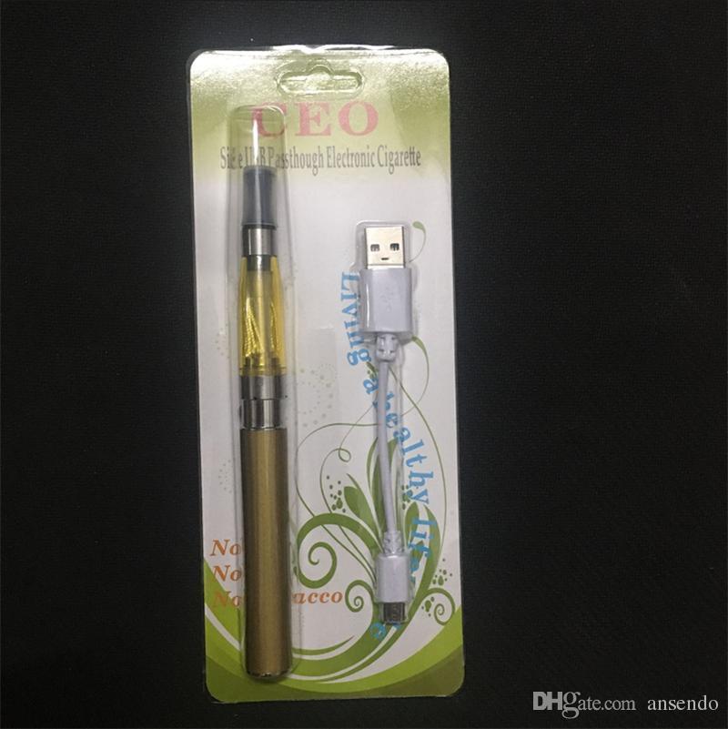 Hot Sale CEO Atomizer Electronic Cigarette Kit CEO Starter Kits E Cig CE4 Atomizer 280mAh 650mAh 900mAh Battery