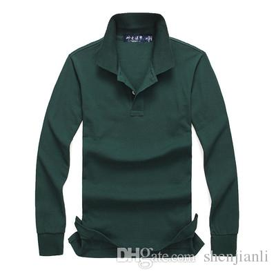 2017 autumn and winter new high-quality men's fashion long-sleeved POLO shirt casual men's POLO shirt Long sleeves size S-XXL