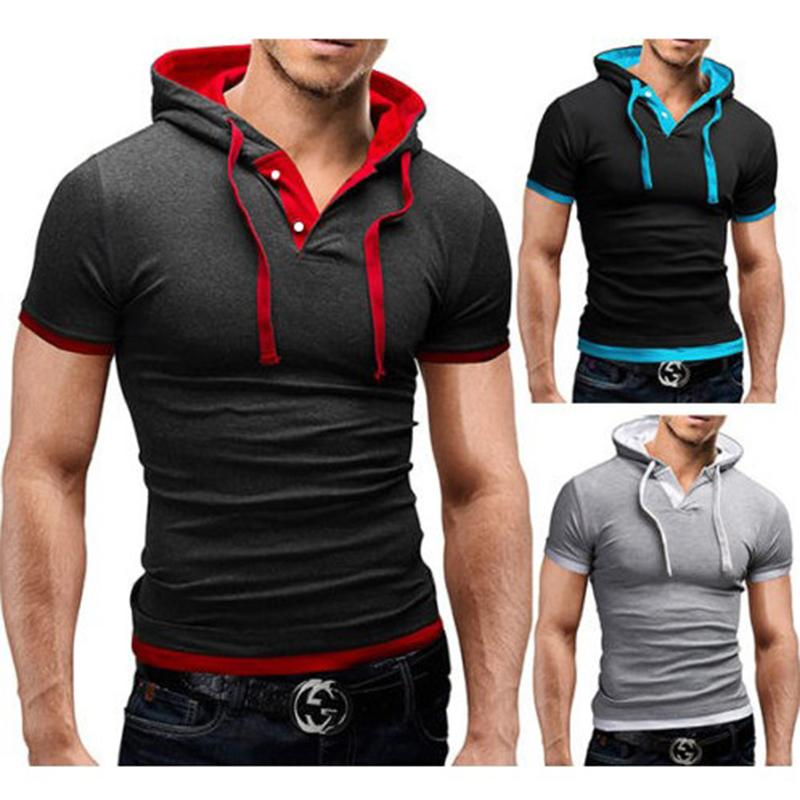 2017 New Men Tshirt Hooded Tees Hot Sale Summer Cool Design T ...