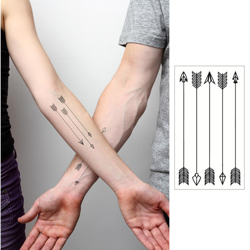 Wholesale Small Arrow Flash Tattoo Hand Sticker 10 5 6cm Waterproof