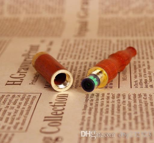 O novo tipo de reciclagem de filtro duplo filtro de haste de cabeça de cobre vermelho madeira maciça madeira piteira pode ser trocado por utensílios de madeira do núcleo