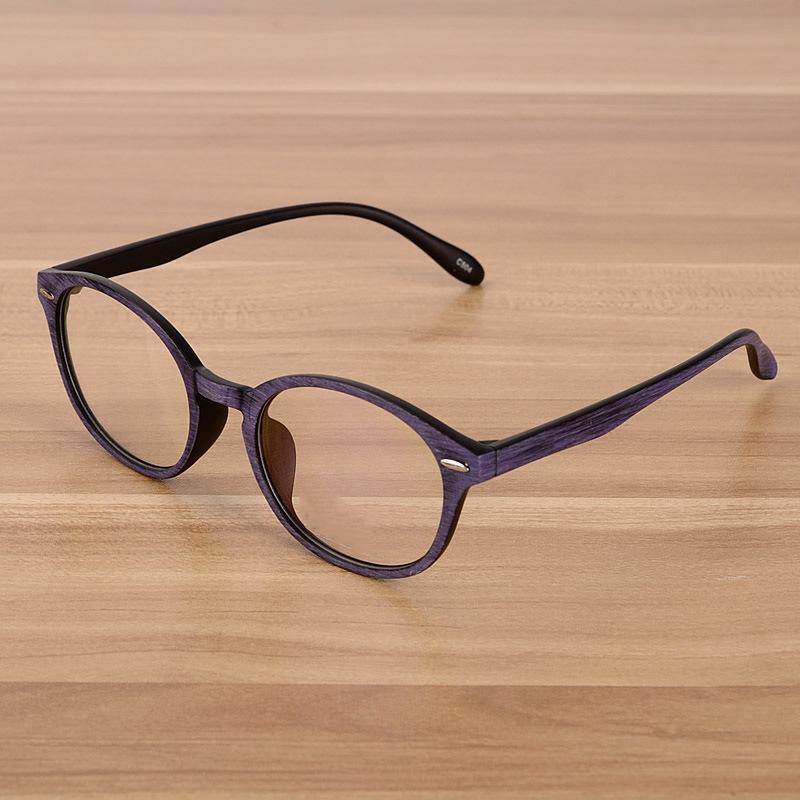 879cac63b83 Wholesale- Retro Eyeglasses Optical Frames Clear Lens Fake Glasses Wooden  Imitation Round Vintage Eyewear Spectacle Frames Women Men Optical Frame  Frame ...