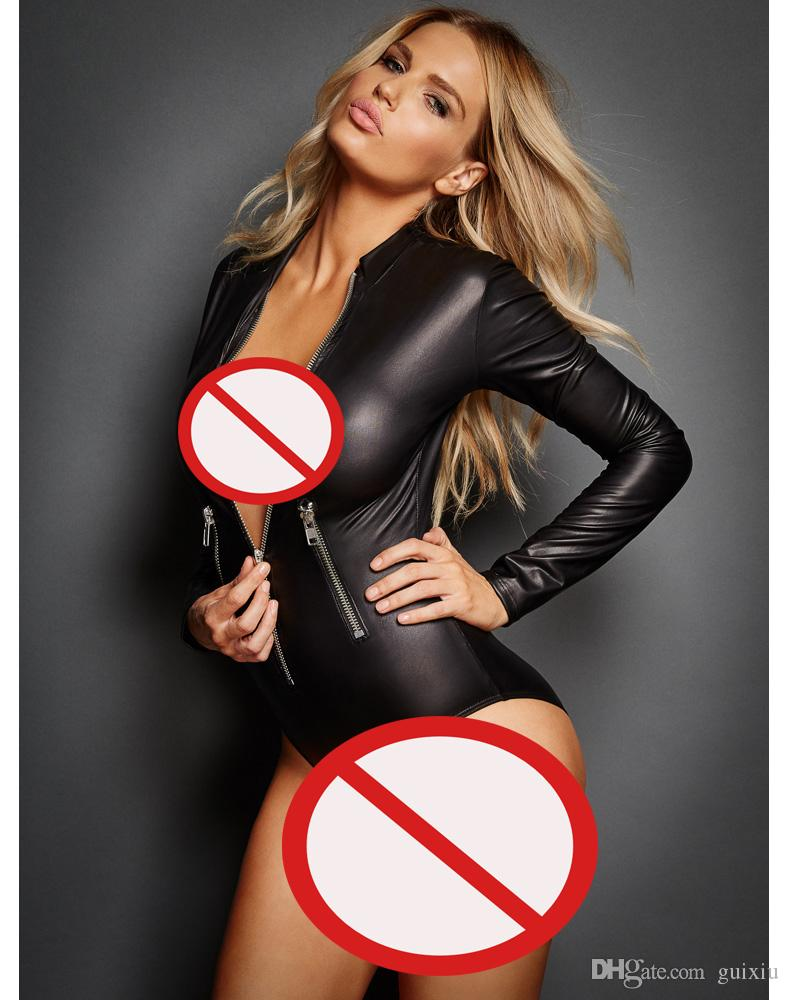 Best Adult Leather Lingerie Sexy Catsuit Costumes For Women Pvc ...