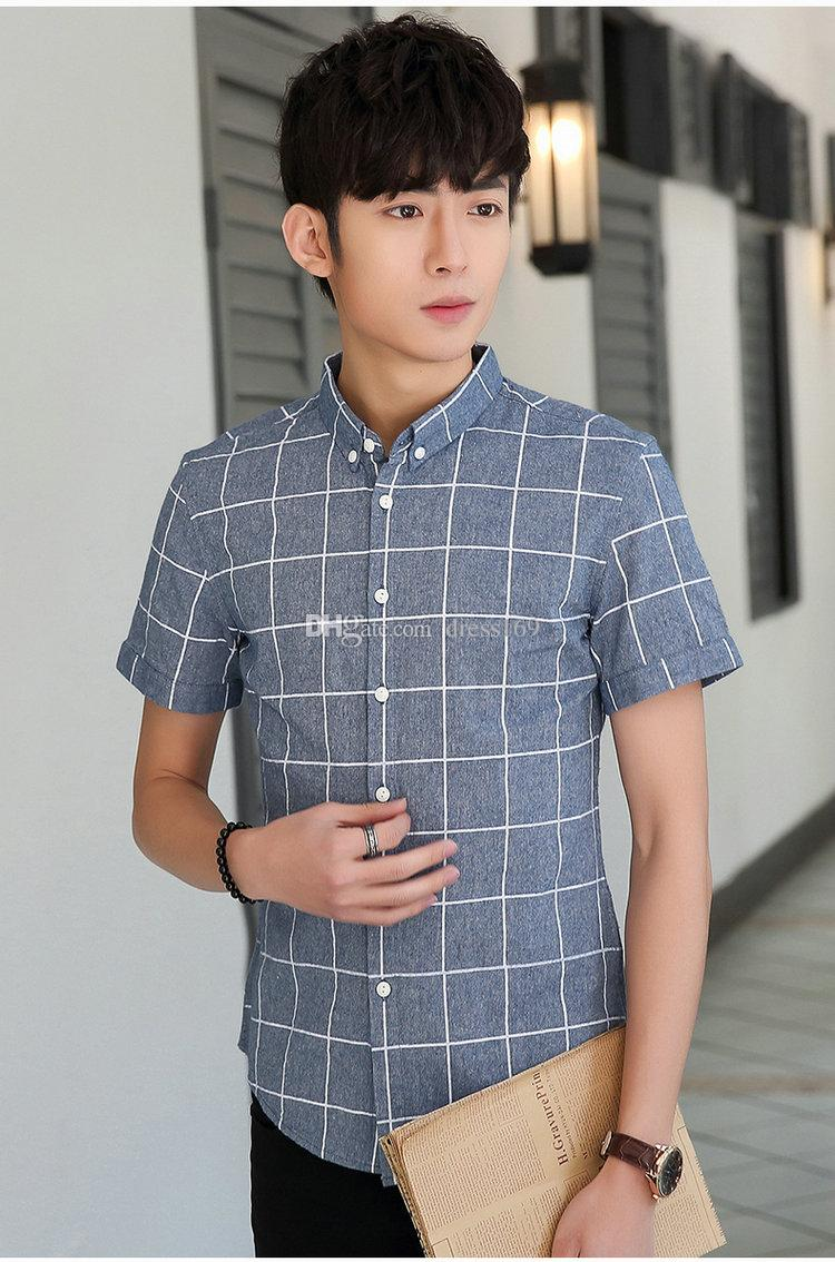 2017 2017 New Summer Fashion Young Men Shirt Short Sleeved Shirt ...