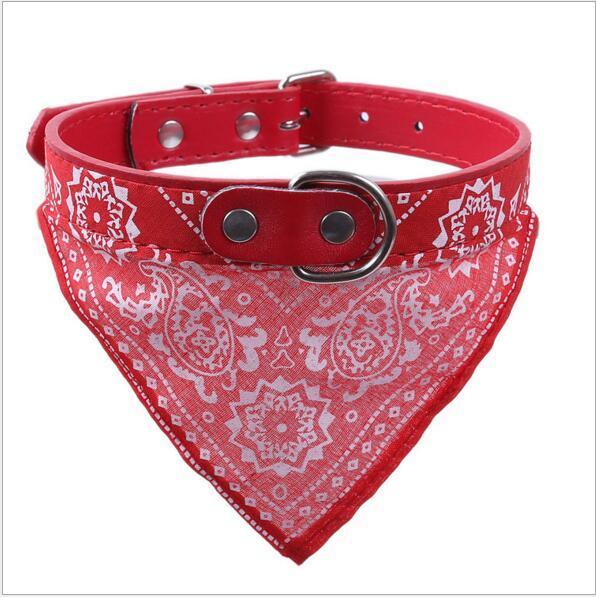 Registrabile Collare cani Cani Bandana Sciarpa Articoli animali domestici Cane Gatto Collare Fazzoletto da collo Nuovo Rosso Nero Colori blu S M L