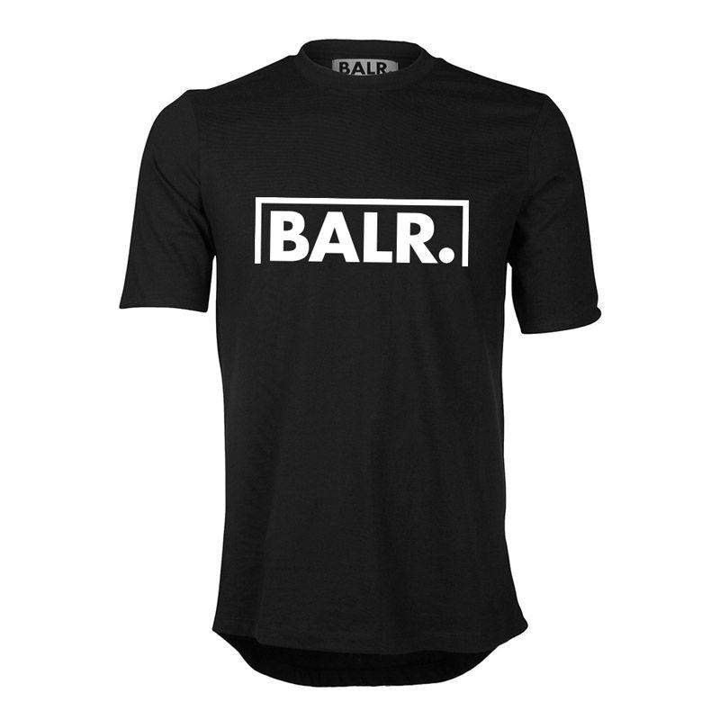 BALR T SHIRT HOMEM 2019 Metade quadro Euro Tamanho Meta impressão BALRED t shirt homens 100% ALGODÃO roupas de marca de fundo redondo longo de volta balr tshirt