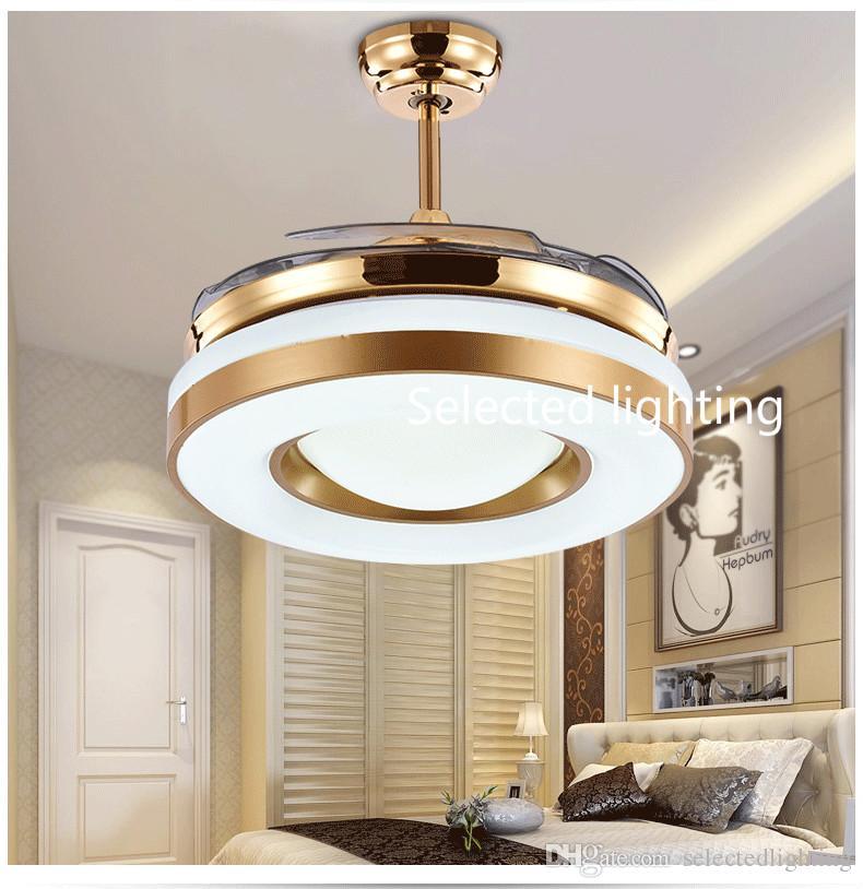 Obscurcissement des fans de plafond de la télécommande LED 42inch s'allume avec les ventilateurs de plafond légers variables 220V 110V pour la décoration intérieure