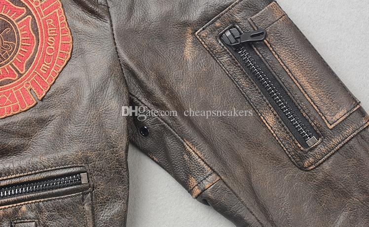 Air Force flight suit men's leather motorcycle jackets short Slim clothing Tooling Military coats cheapsneakers