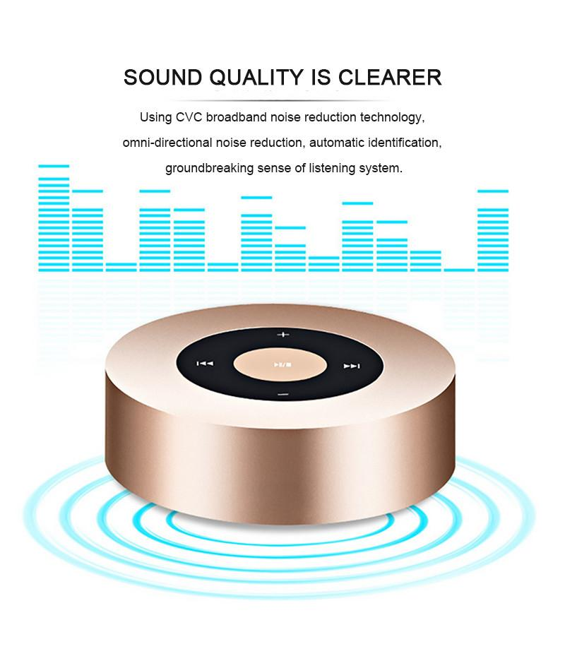 ARONTIME A8 Portable Wireless Mini Bluetooth Speaker MP3 Player Support Hands Free Call Micro SD Card With Metal Case Passive Radiator