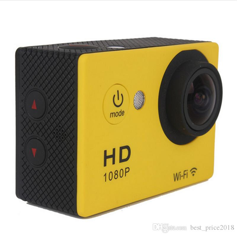"""Free DHL Waterproof Sports Cam W9 HD Action Camera Diving Wifi 1080P 30M 2.0"""" 170° View DV HDMI Camcorders DHL Colorful"""