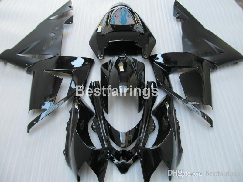 Moto Parts Fairing Kit For Kawasaki Ninja Zx10r 2004 2005 Black