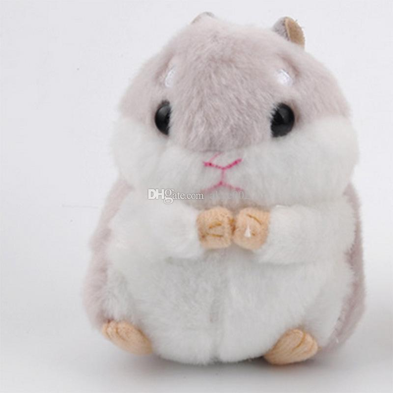 """Hot sale 4"""" 10cm Hamster Keychain Plush Doll Stuffed Animals Toy Pendant For Child Best Gifts"""