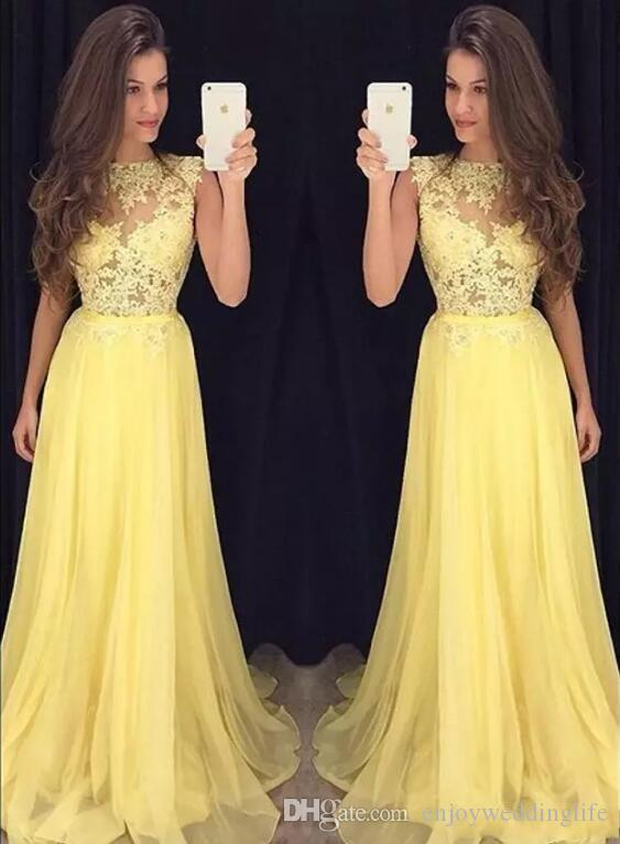 Pale yellow prom dresses 2018 pictures