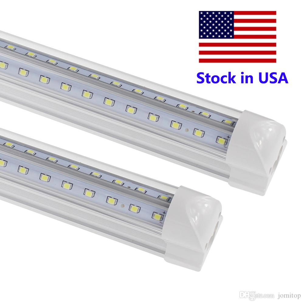 T8 8ft LED Tube V Shape Integrated 8 Foot Led Bulbs LED 4ft 5ft 6ft 8 Feet  Work Light 72W Fluorescent Tube Lamp Led Tube Light Bulbs Led Tube Light  Circuit ...