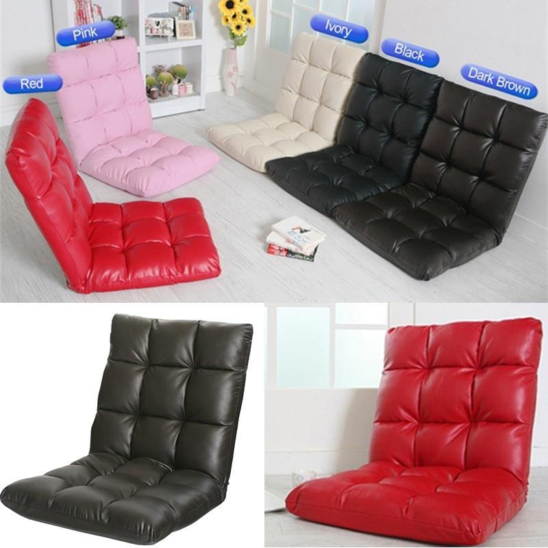Großhandel Home Garten Schlafzimmer Möbel Pu Leder Lazy Sofa Boden Stuhl  Hochwertige Japanische Stil Falten Tatami Stühle Mit Rücken Unterstützung  Von ...