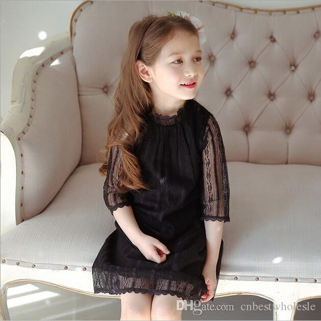 2019 2017 Baby Girls Lace Tutu Party Dresses Kids Girls Princess