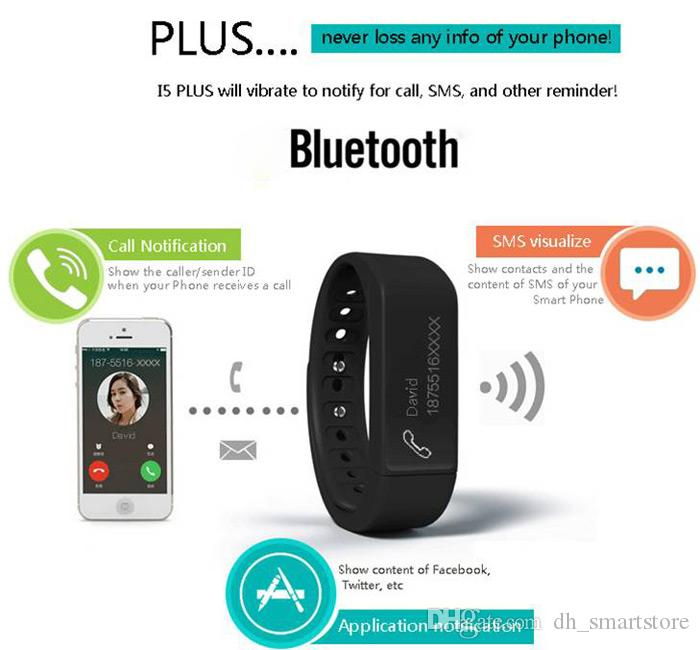 NEW i5 plus smart watch IP65 BT4.0 0.91 inch OLED TPU band Multifuctioal Intelligent Bracelet for IOS / Android smartphone