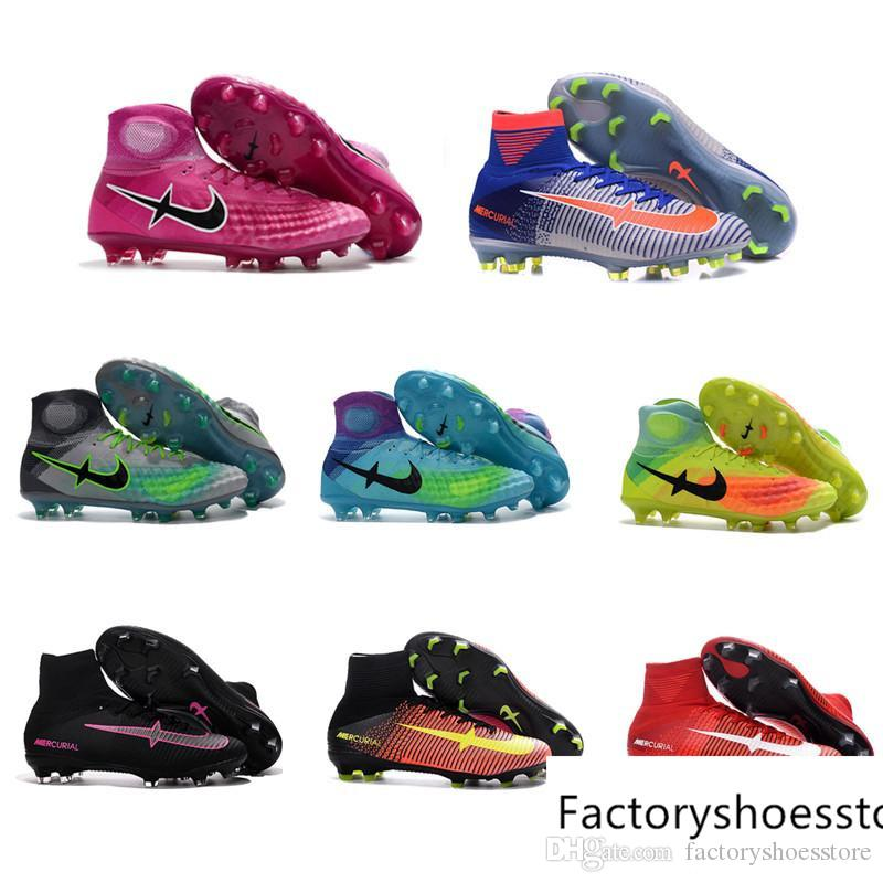 sale clearance store High Top Mens Kids Soccer Shoes Mercurial CR7 Superfly V FG Boys Football Boots Magista Obra 2 Women Youth Soccer Cleats Free Shipping cheap outlet locations ezCjGWo