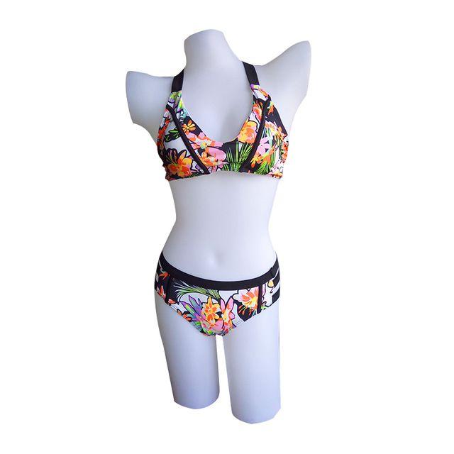 Mujeres Flor Swim Wear Lady Swimwear Chándal Push Up Print Mujeres traje de baño brasileño traje de baño Sexy Bikini Set