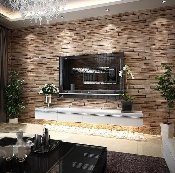 Wholesale Rustic Modern 3d Room Faux Brick Wall Wallpaper Bedroom Vinyl Waterproof Paper Home Decor For Bathroom And Kitchen Nature
