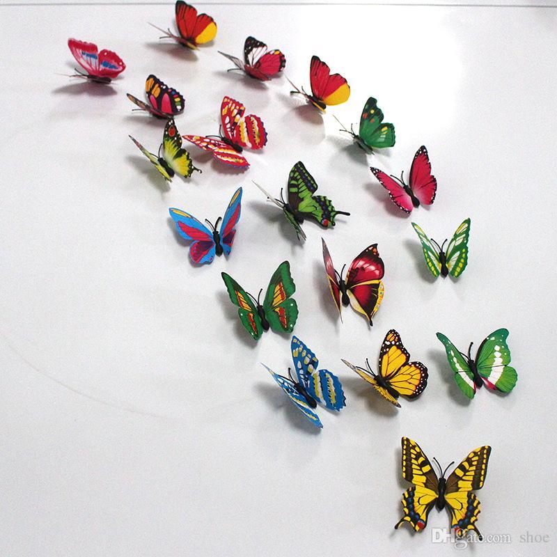 7cm del frigorifero della farfalla magneti partito decorationArtificial plastica 40 stili di larghezza
