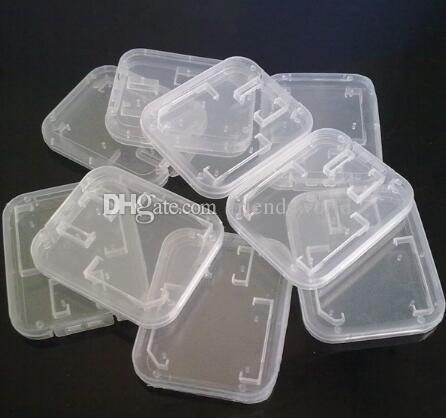 Memory Card Clear plastic packing boxes retail package box for SD T-Flash TF Card packing Box Transparent Storage Case