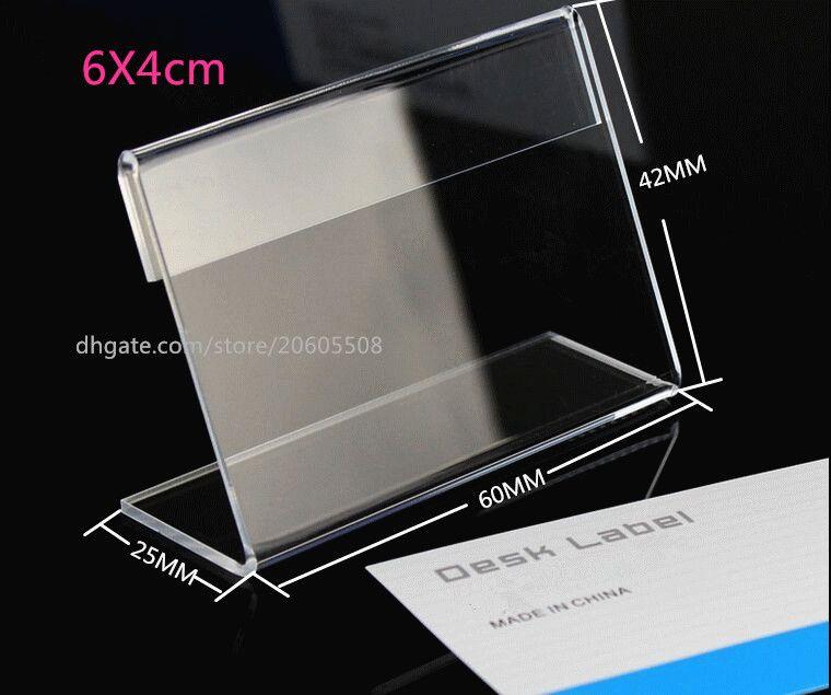 Sıcak satış 10 adet 6x4 cm moda akrilik Masa kart Fiyat Etiketi Burcu masası Etiket çerçeve Ekran tutucu pop Promosyon Kartı için Alışveriş Merkezi
