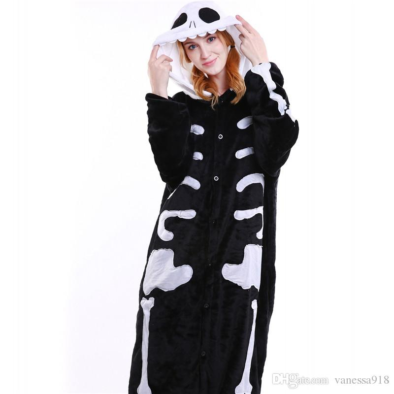 Uomo Skull Onesies Unisex Viola Dragon Animal Cartoon Pigiama Set Donne Cheese Cat Cosplay Costume Tutina Sleepwear Wholesale MX-017