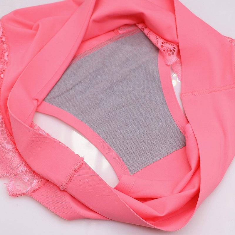 2017 Hot En Gros Femmes culotte sexy dentelle sous-vêtements Tissu Ultra Mince Confort Culottes Sans Soudure Sept sortes de couleur M / L / XL